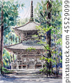 Koyasan west pagoda world heritage Koyasan sketch 45529099