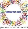 Information sharing concept, colorful rubber band 45529469