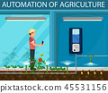 Automation Agriculture. Vector Flat Illustration. 45531156