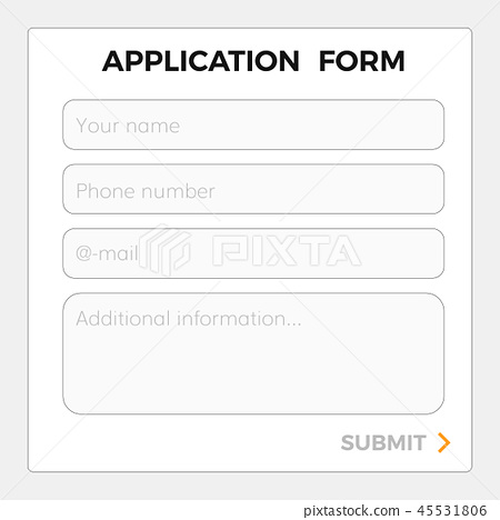application form template 45531806