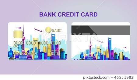 Bank card city 45531982