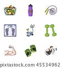 sport fitness icon 45534962