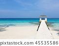 Summer house on tropical island 45535586