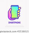 phone, icon, hand 45536015