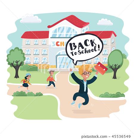 Welcome back to school! Cute school kids. 45536549