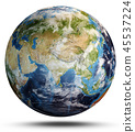 Planet Earth map. 3d rendering 45537224