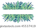 Tropical Leaves Banner 45537419