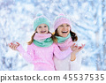 winter, snow, child 45537535