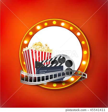 Cinema art movie watching vector poster design tem 45541411
