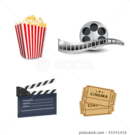 Cinema art movie watching vector poster design tem 45541416