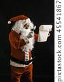 Santa Claus reading gift's list for children 45541867