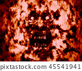 Angry bloody ghoul face. Red background 45541941