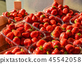 Strawberry fruits for sale at rural market 45542058