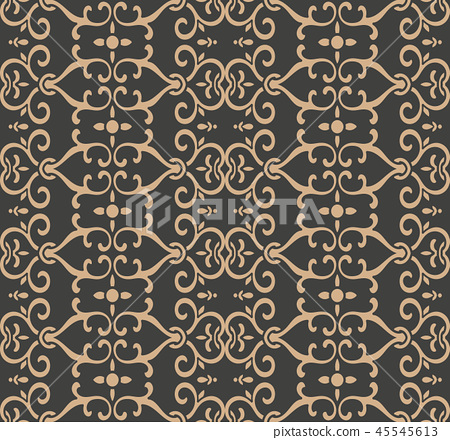Vector damask seamless retro pattern background 45545613