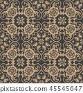Vector damask seamless retro pattern background 45545647