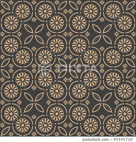 Vector damask seamless retro pattern background 45545710