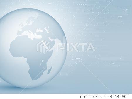 地球圖像(非洲,歐洲) 45545909