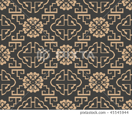 Vector damask seamless retro pattern background 45545944