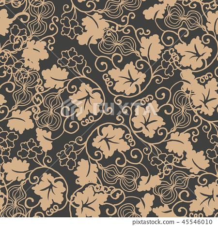 Vector damask seamless retro pattern background 45546010