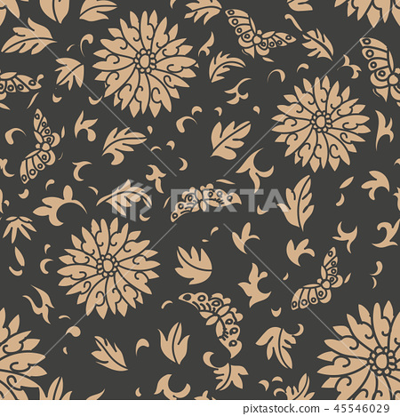 Vector damask seamless retro pattern background 45546029