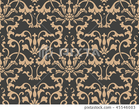 Vector damask seamless retro pattern background 45546083