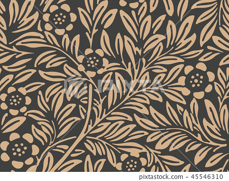 Vector damask seamless retro pattern background 45546310