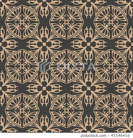 Vector damask seamless retro pattern background 45546458