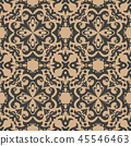 Vector damask seamless retro pattern background 45546463