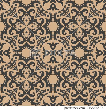 Vector damask seamless retro pattern background 45546463