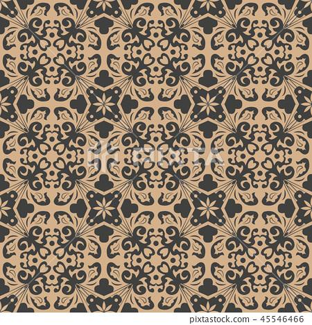 Vector damask seamless retro pattern background 45546466
