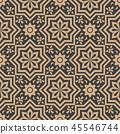 Vector damask seamless retro pattern background 45546744