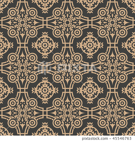 Vector damask seamless retro pattern background 45546763