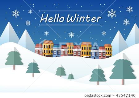 Hello Winter concept 45547140