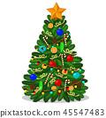 christmas tree ornament 45547483