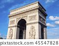 Arc de Triomphe in Paris 45547828