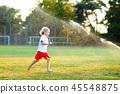 sprinkler, kids, playing 45548875