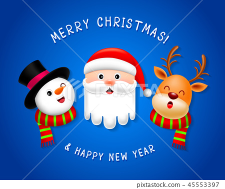Funny Christmas Characters design.  45553397