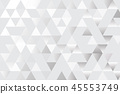 Triangle geometric gray and white abstract 45553749