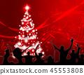 黨聖誕節聖誕節背景婦女人樹 45553808