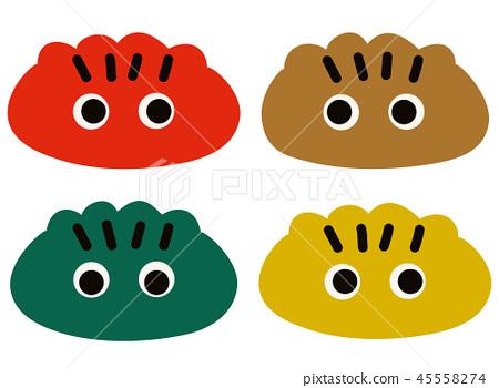 Kibuna顏色獅子字符 45558274
