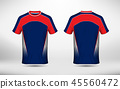 Blue white and red layout e-sport t-shirt design 45560472