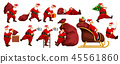 christmas, santa, vector 45561860