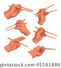 hand chopsticks set 45561886