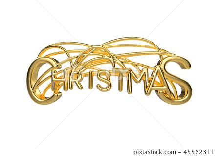 Christmas Elegant Golden Lettering Word With Stock