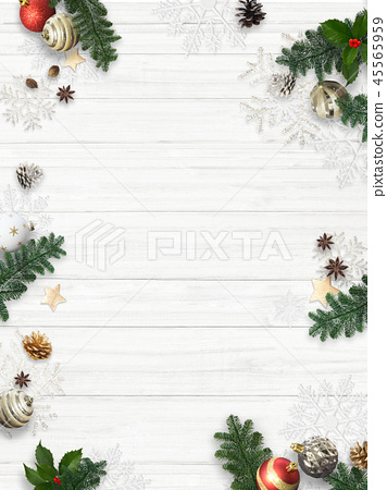 Background-White Wall-Christmas-Ornament 45565959