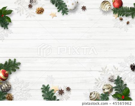 背景白色牆壁聖誕節裝飾品 45565962