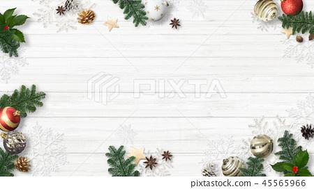 배경 - 흰 - 크리스마스 - 장식 45565966