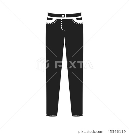 Pants icon of vector illustration for web and mobile 45566119