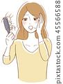 掉頭髮關心婦女例證 45566588