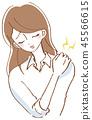 僵硬的脖子,女人圖 45566615
